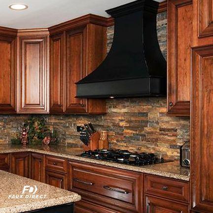 Faux Stone Backsplashwhitelogo-2 | Stone backsplash kitchen