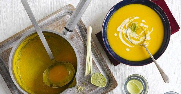 Thai carrot soup with lemongrass