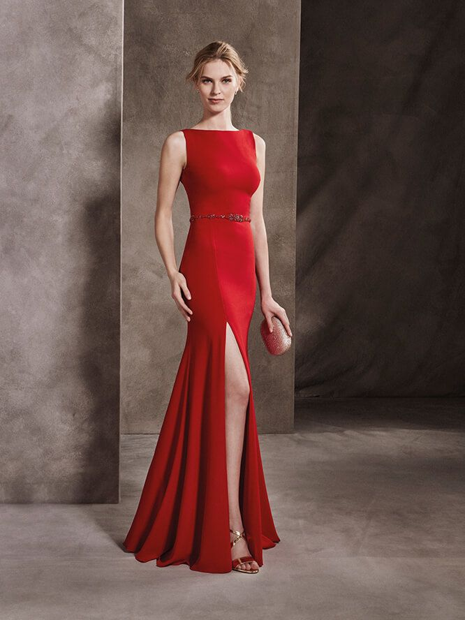 Princess Maid Of Honour Dress With Bateau Neckline In Georgette