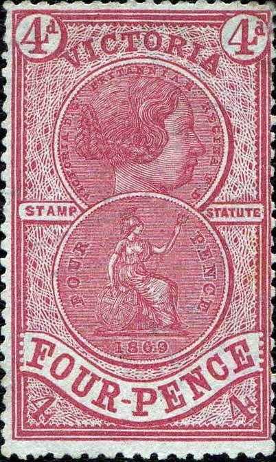 1871 Victoria Revenue Stamp Catalogue