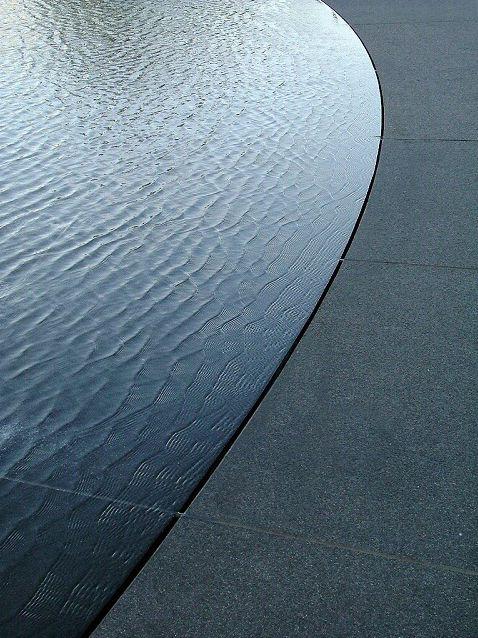 Water Edge Against Paving Slot Drain Fountain Detail