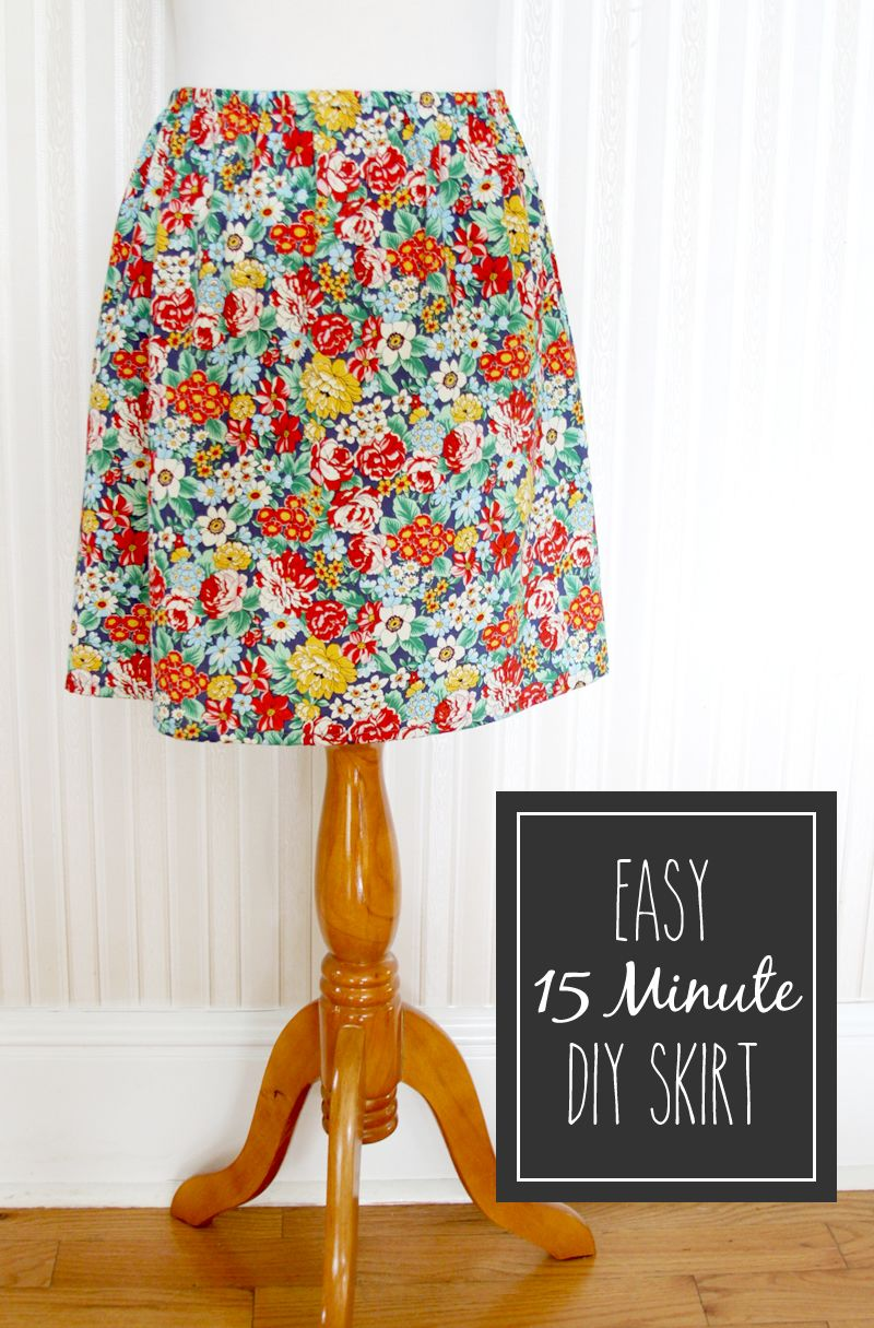 Easy 15 Minute DIY Skirt tutorial on { lilluna.com }