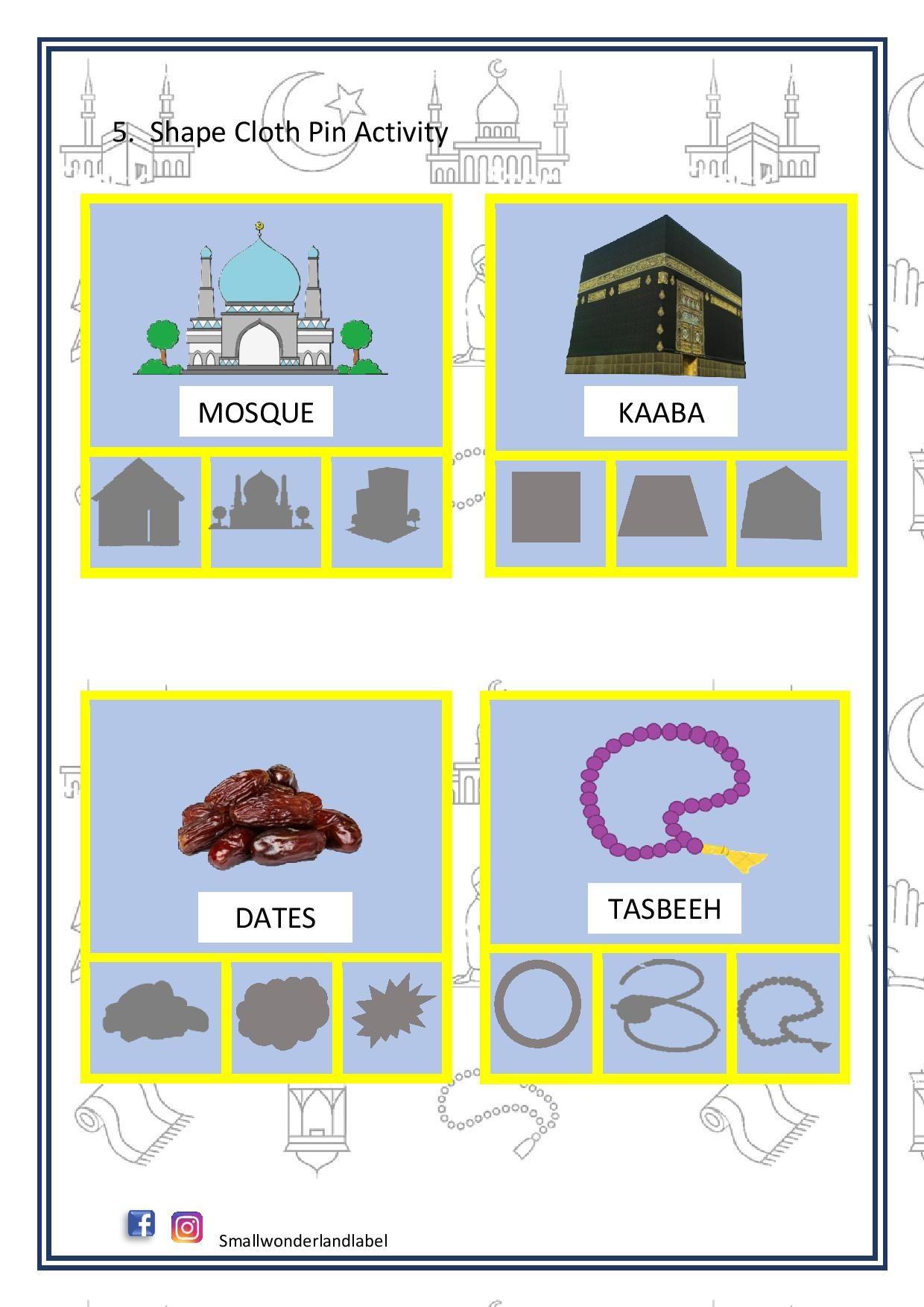 Shadow Matching Ramadan Activity Pack In