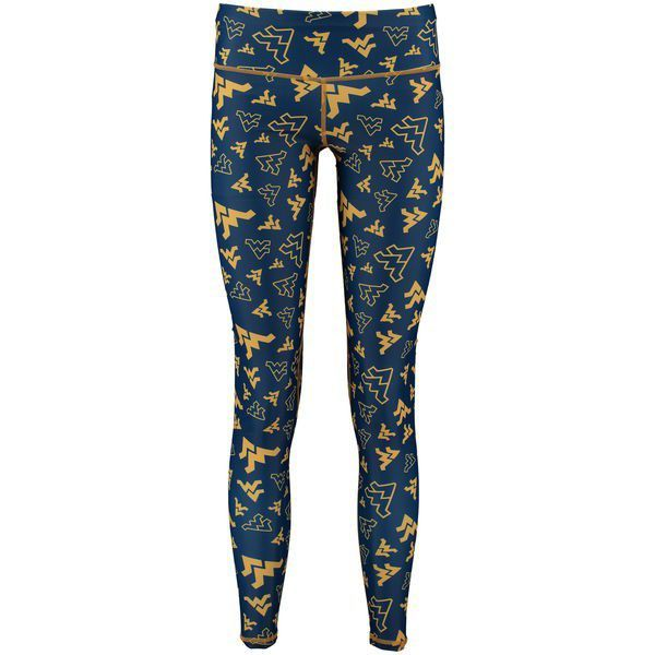 2b6d7781484a5 Get you game on and stay warm in these fashionable WVU Stacked Mascot  Leggings