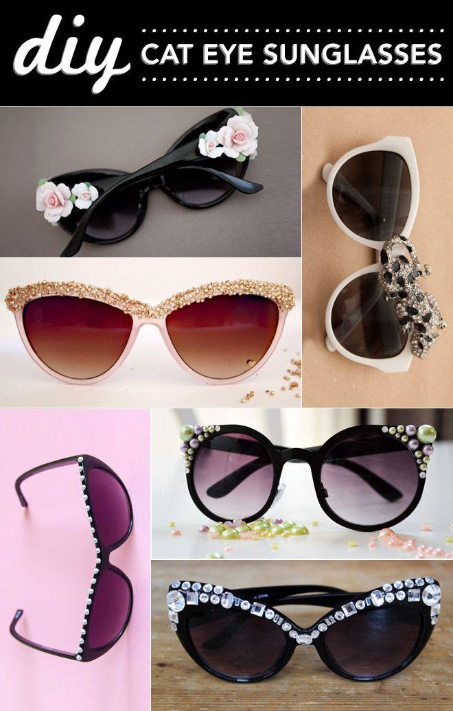 342568572361 DIY cat eye sunglasses love these