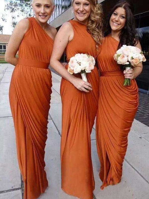 Vintage Orange Bridesmaid Dresses