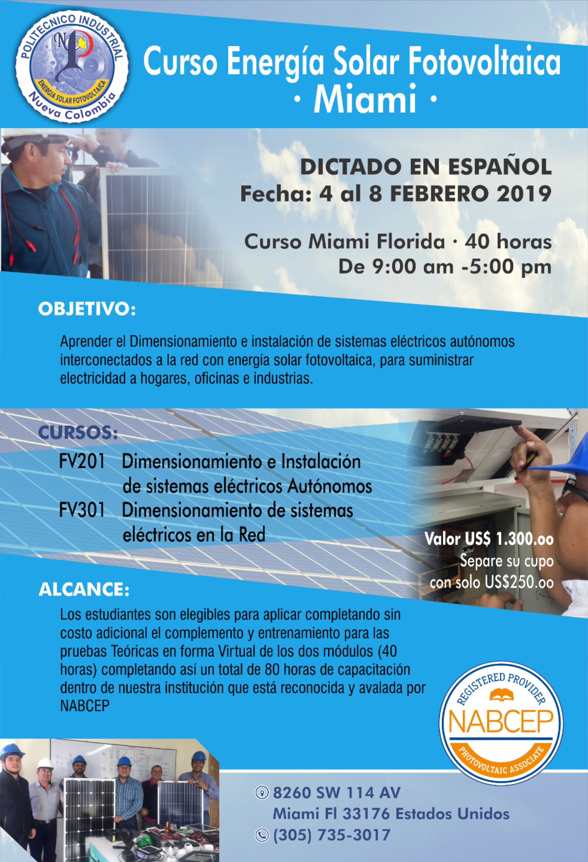 Curso Energia Solar De 5 Dias Miami Adf Enterprises Of Florida 4 February Https Www Evensi Us Energia Solar Instalacion Instalacion De Paneles Solares