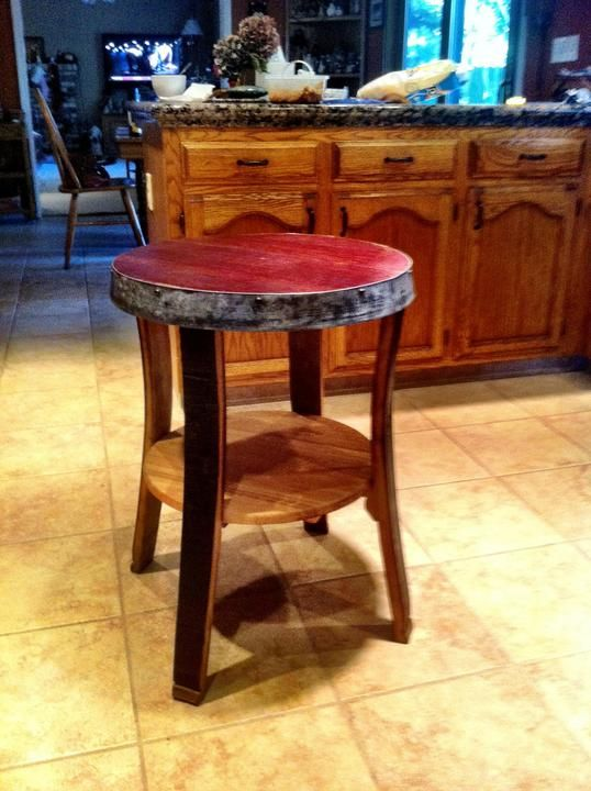Fallen Oaks Nightstand Endtable Made 100 Out Of Wine Barrels