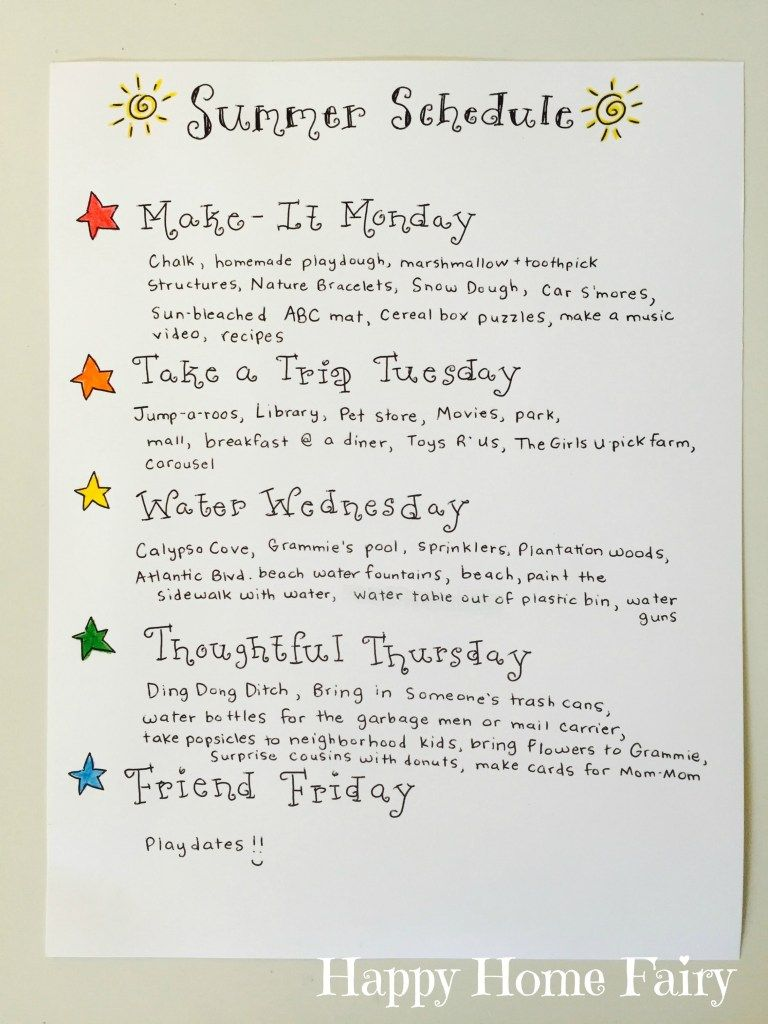 Simple Summer Schedule for Kids is part of Simple Kids Crafts For Boys - Summer is here and the angels are singing the Hallelujah chorus! Well, until about one week in and mama is LOSING HER MIND  It is hot  They are bored  And destroying various rooms in the house  As much as the teacher in me wants a break from schedules and routines this summer, I can't deny