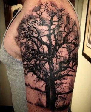 Dark Tree Tattoo : tattoo, Tattoo, Forest, Tattoos,, Designs