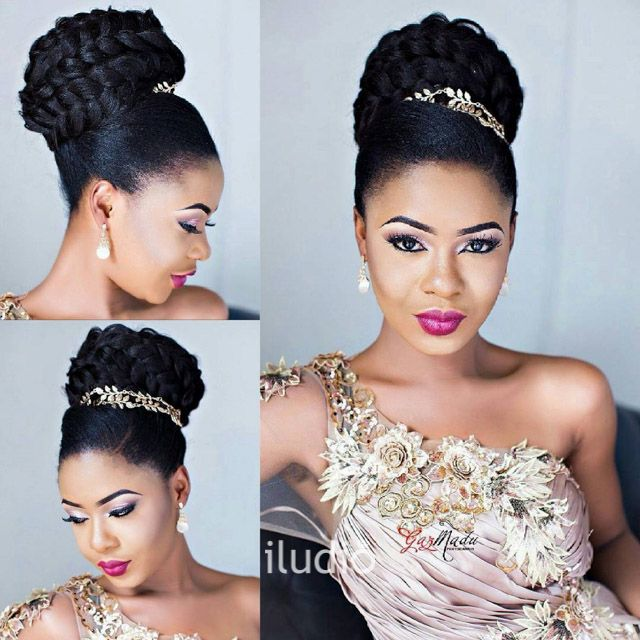 Black Braided Wedding Hairstyles: View Nigerian Wedding Brides. Get Beauty Inspiration With