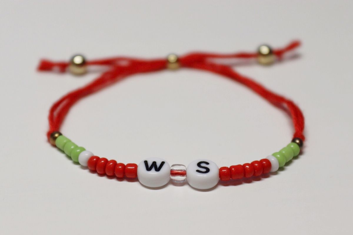 beachy bracelet watermelon colored seed bead bracelet watermelon bracelet summer jewelry for women handmade jewelry summer jewelry