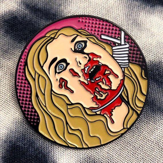 Authentic Dario Argento/'s SUSPIRIA Logo Enamel Pin NEW