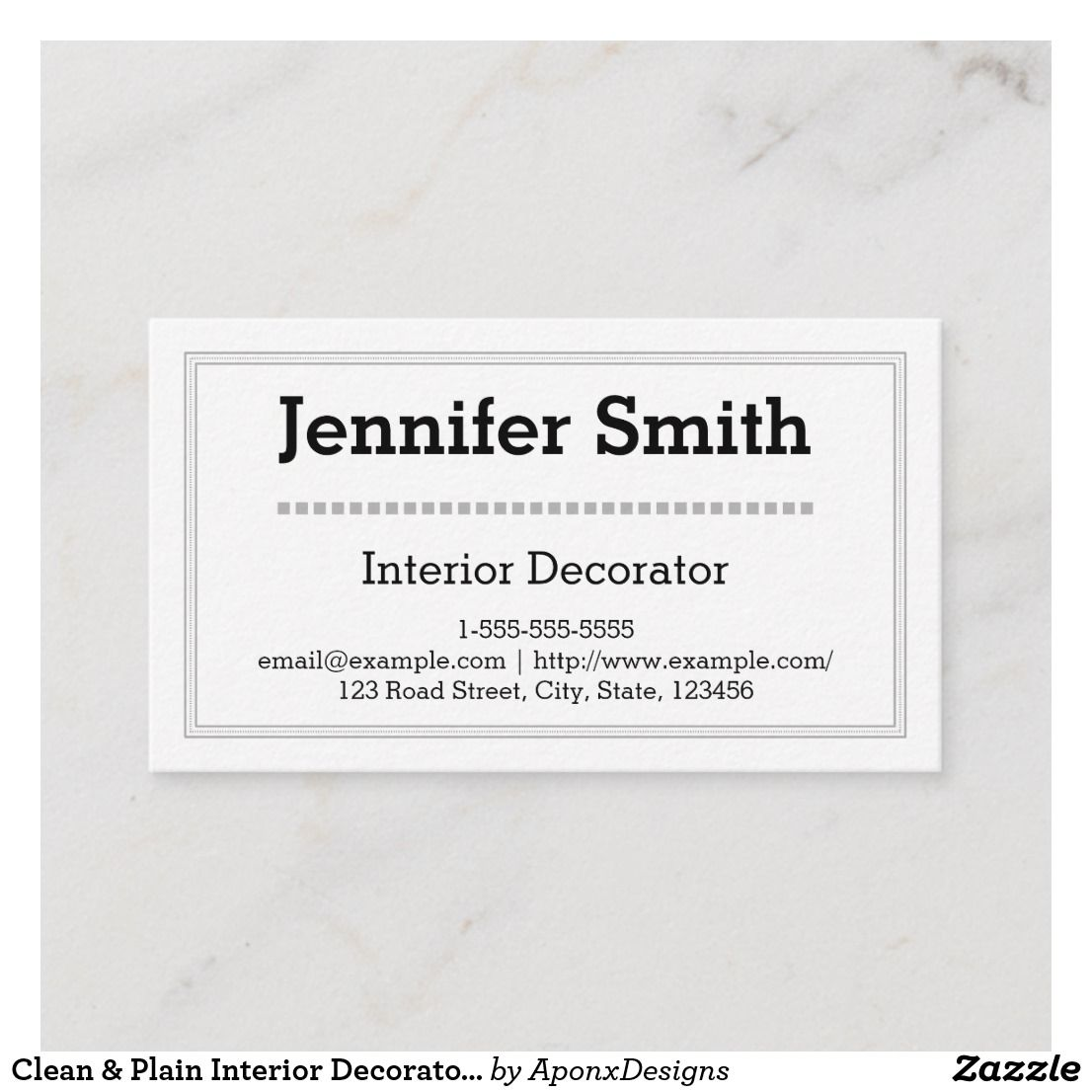 Clean  plain interior decorator business card also nice looking rh ar pinterest