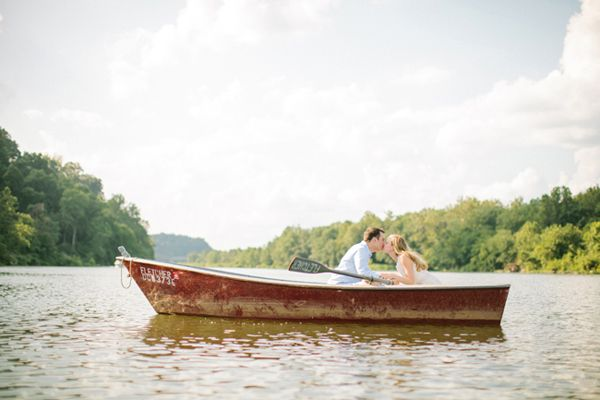 adorable engagement pictures, just like out of the notebook!