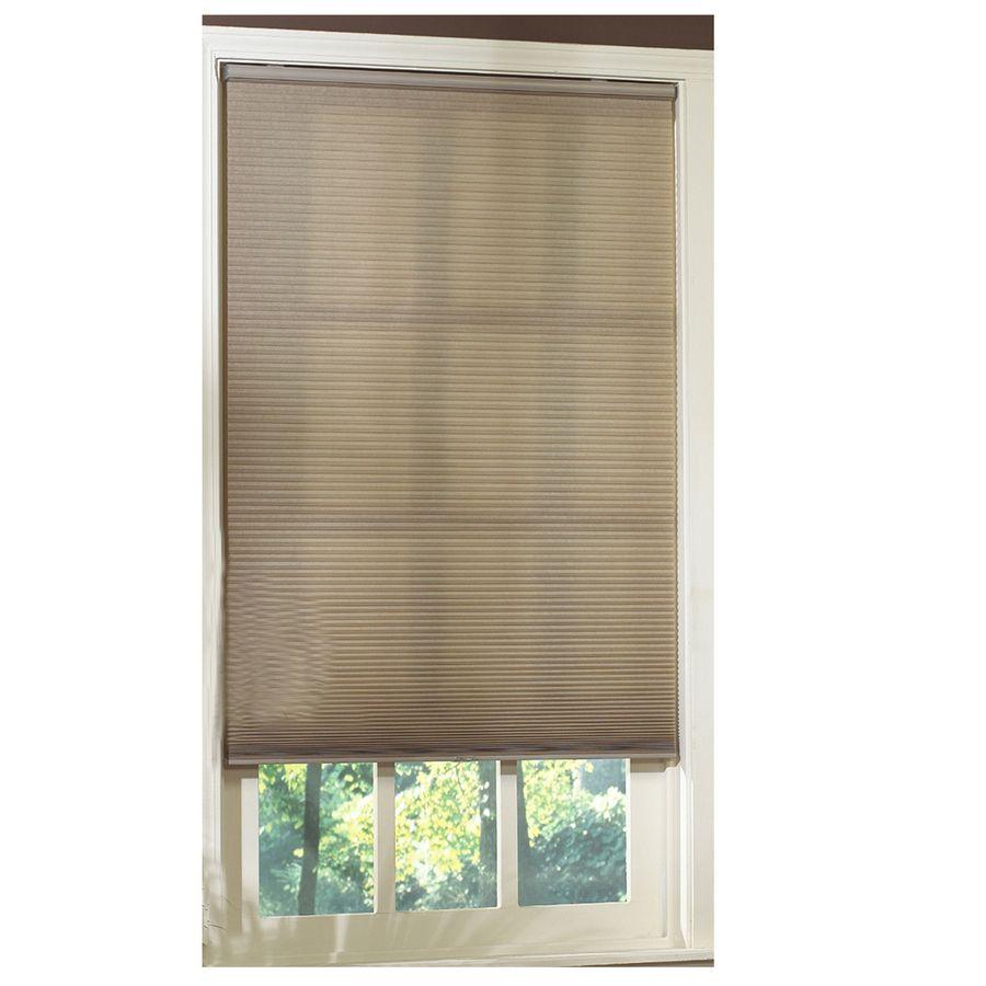 Basement window coverings outside  shop allen  roth in w x in l linen light filtering cordless