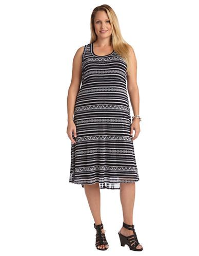 Brands | Dresses | Plus Liberated Striped Extended Hem Dress ...