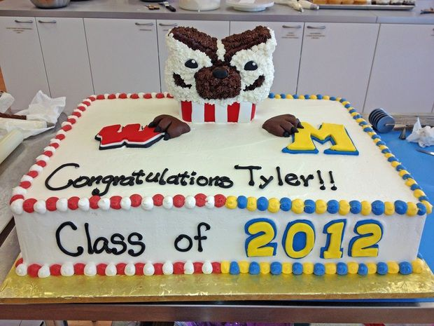 Astounding Uw Madison Graduation Cake With Images Graduation Cakes Personalised Birthday Cards Cominlily Jamesorg