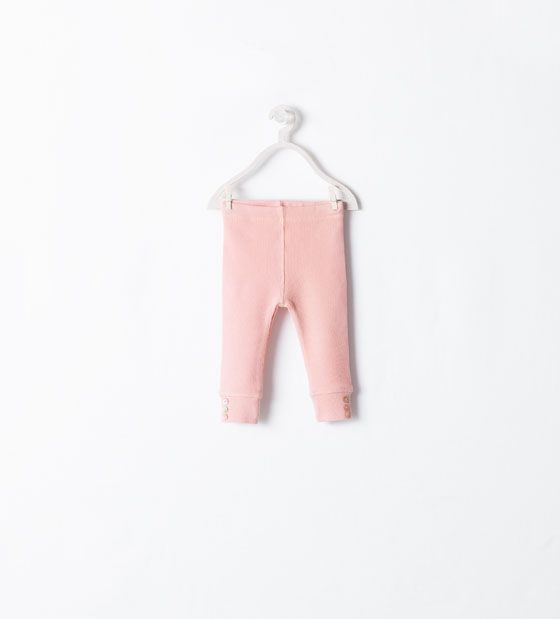 ZARA - COLLECTION AW14 - ORGANIC COTTONLEGGINGS WITH BUTTON
