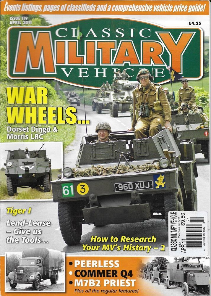 Classic Military Vehicle magazine Dorset Dingo and Morris LRC Tiger ...