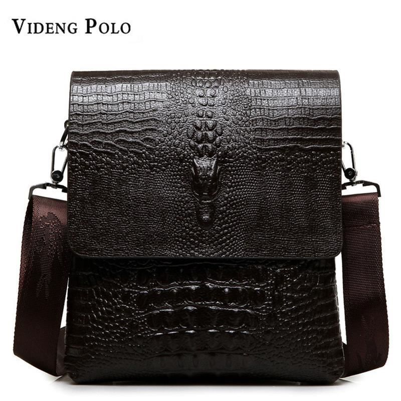 6f7ca32c5f89 2017 NEW Vertical high quality leather men bag business casual alligator  small s