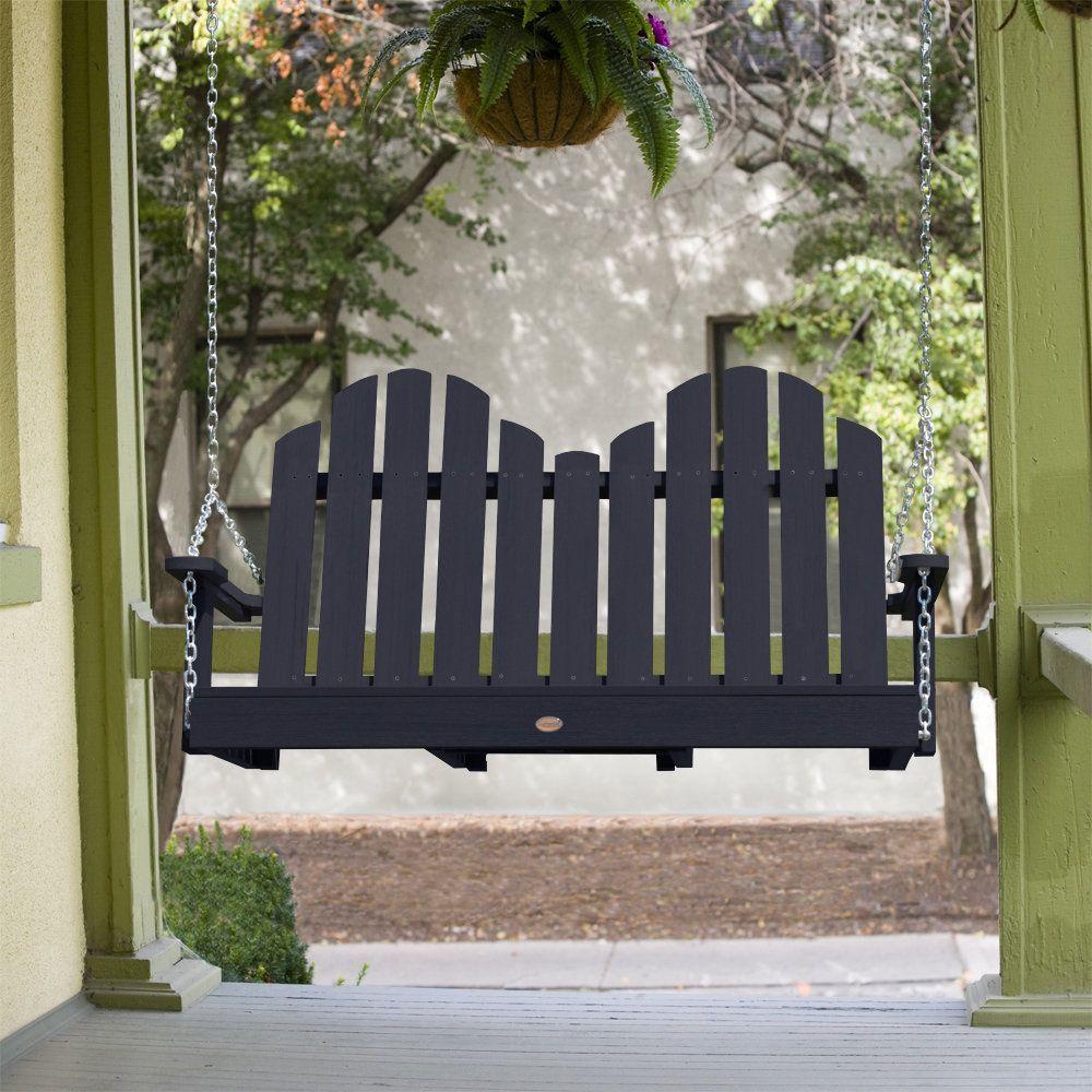 Highwood classic westport porch swing ft antique white beige off
