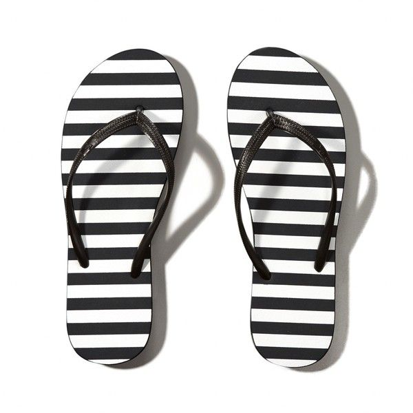 1910b700b1ef Abercrombie   Fitch Striped Rubber Flip Flops ( 9) ❤ liked on Polyvore  featuring shoes