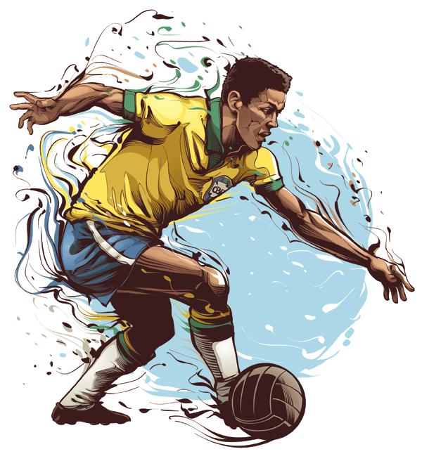 Vector Art Inspiration - Brazilian Sport Legends by Cris Vector | Sports  illustrations art, Soccer art, Sports art