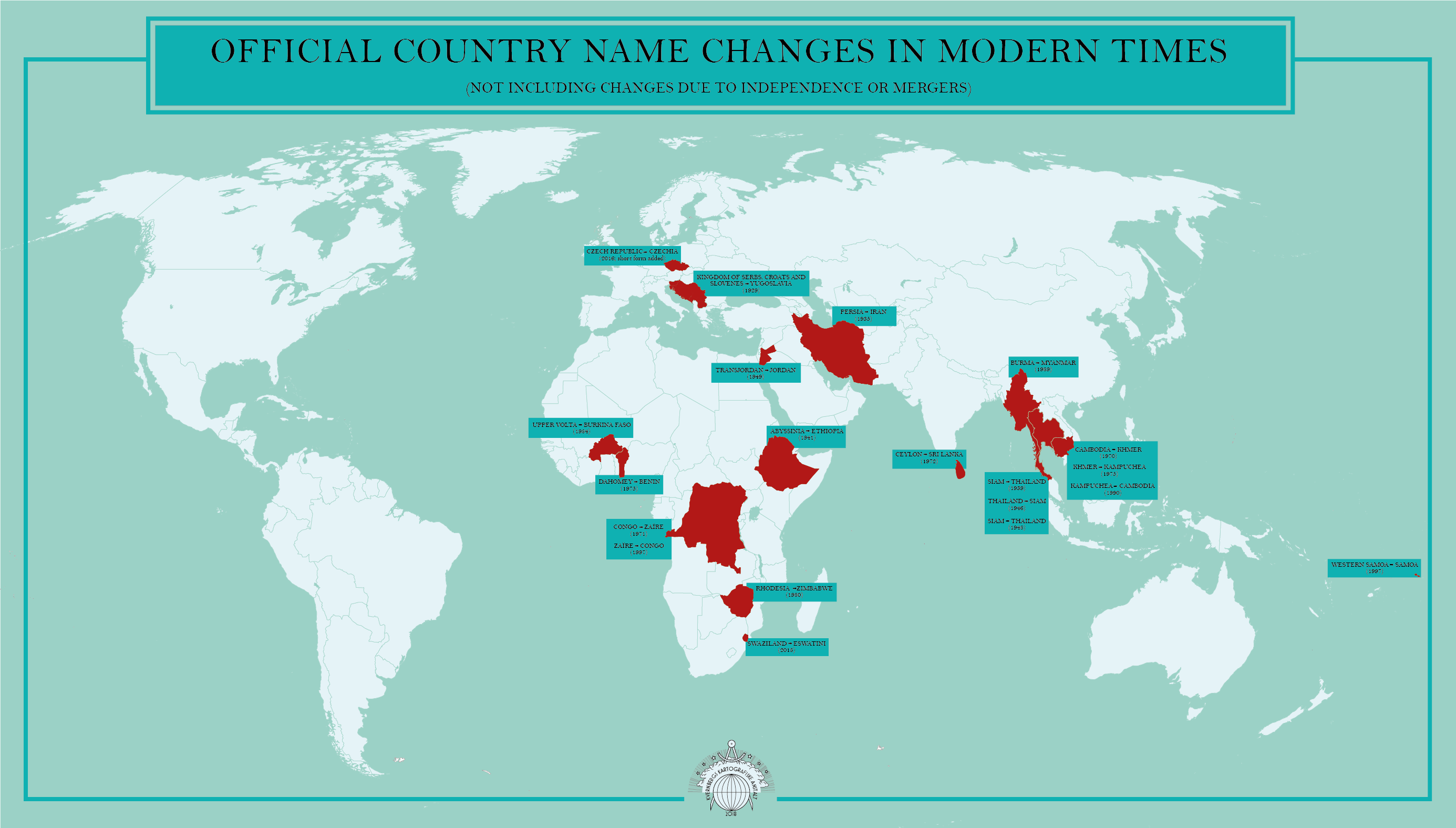 Countries that have changed their names modern times countries that have changed their names vivid maps gumiabroncs Image collections