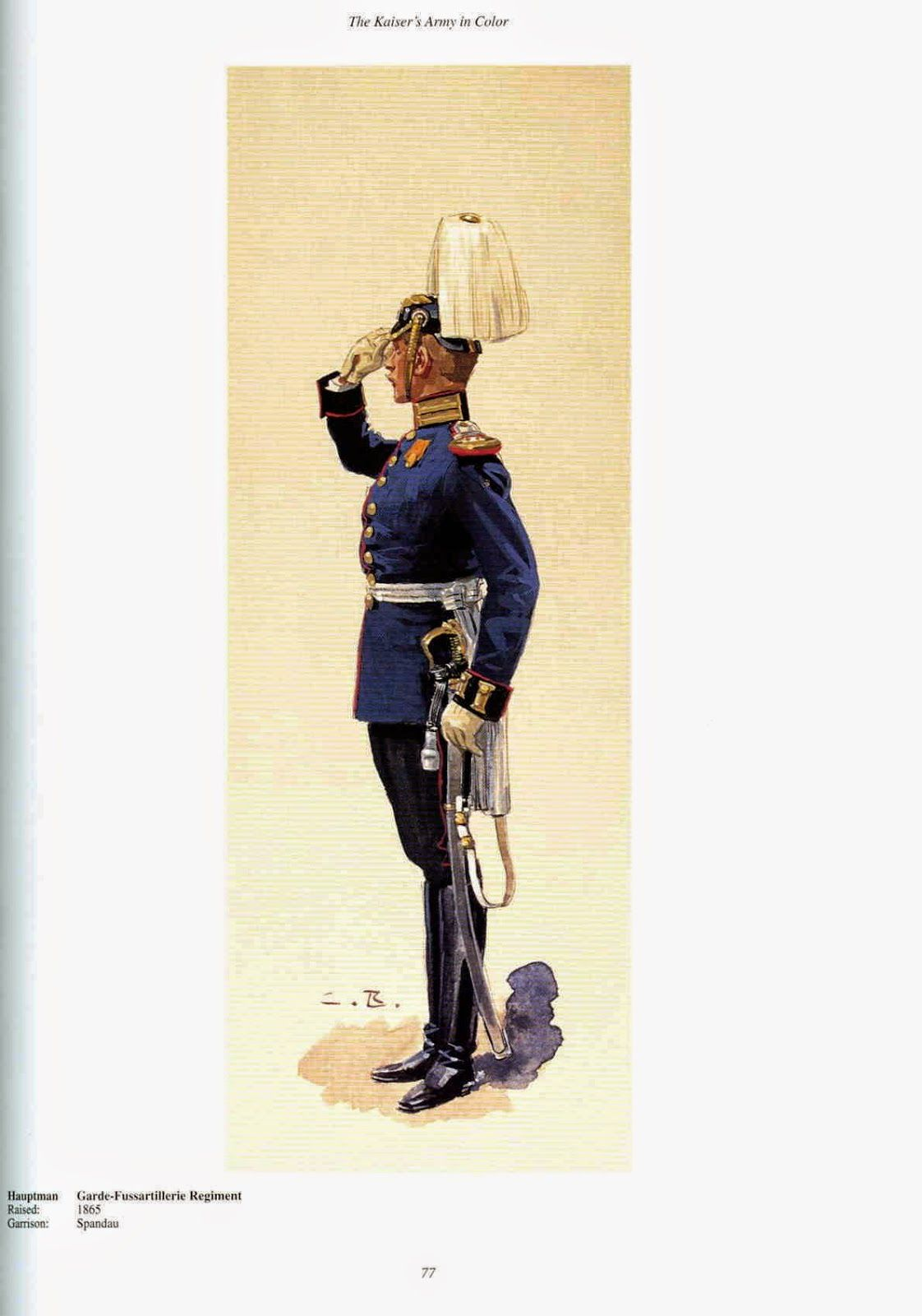 German guards fusiliers hauptman raised 1826 for Depot bayreuth