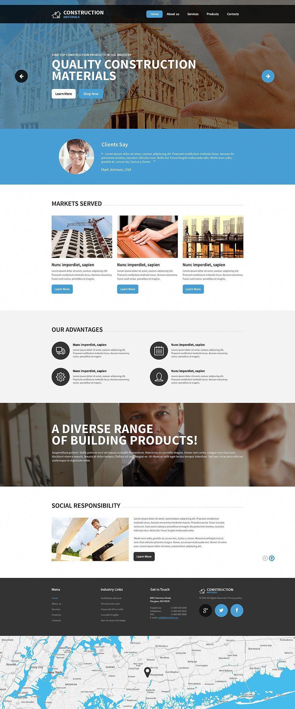 Construction Company Responsive Website Template Company Construction Responsive Webd Website Template Responsive Website Template Material Design Website