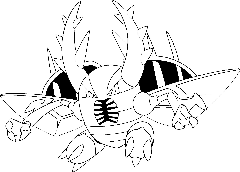 mega pinsir line by alcadeas1 line