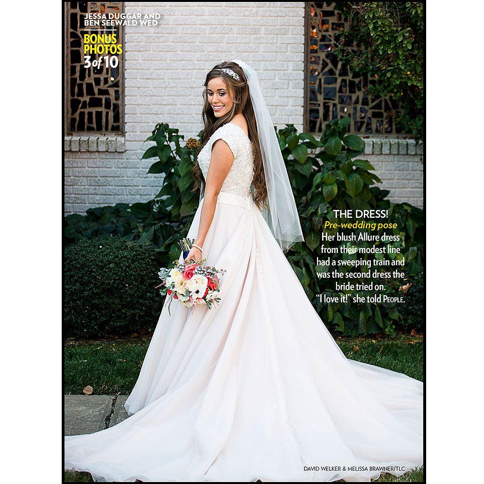 Wedding Jessa Wedding Dress jessa seewalds wedding dress this was only the second tried