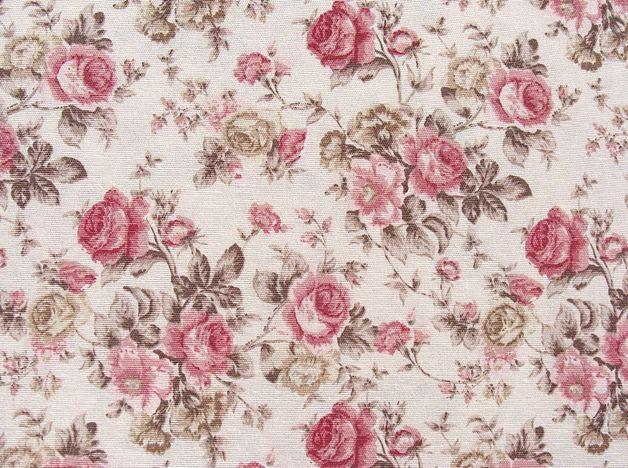 stoff rosen rosen stoff vintage englische rosen stoff landhaus ein designerst ck von. Black Bedroom Furniture Sets. Home Design Ideas