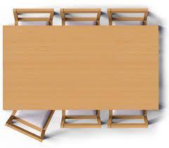 Risultati immagini per top view png arredamento d for Dining table plan view