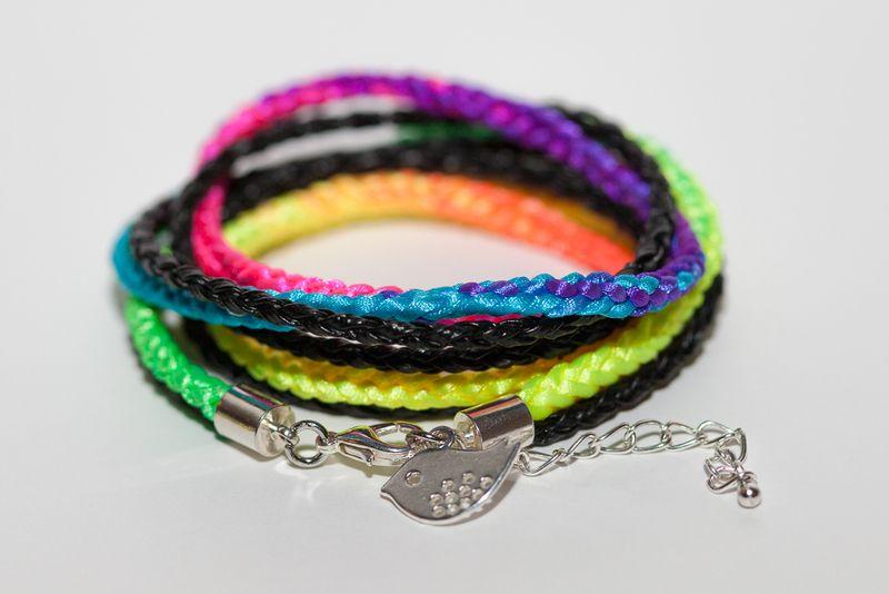 Braided Neon Wrap Bracelet