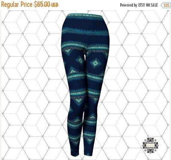 Pattern Leggings,Leggings,Yoga Leggings,Printed leggings blue Leggings,Eco-Friendly leggings,Leggings,Activewear, Yoga pants.Made in Canada