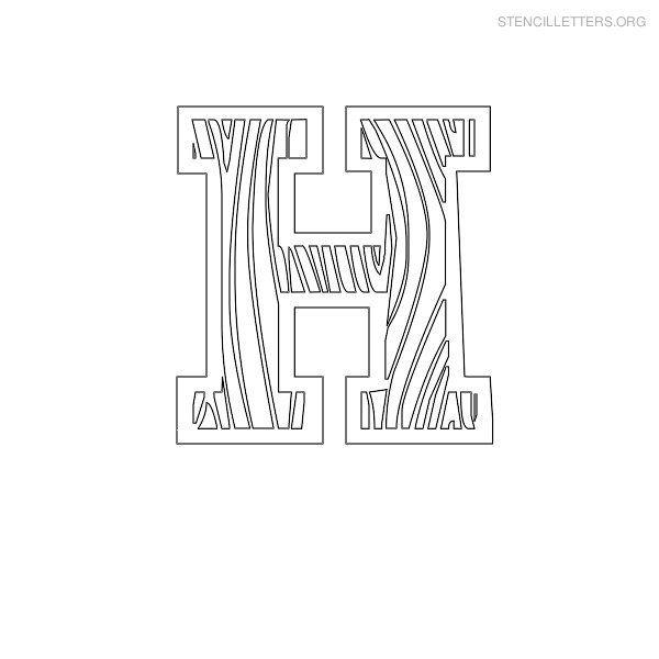 Stencil letter wooden h diy pinterest stencil lettering stencil letter wooden h spiritdancerdesigns Images