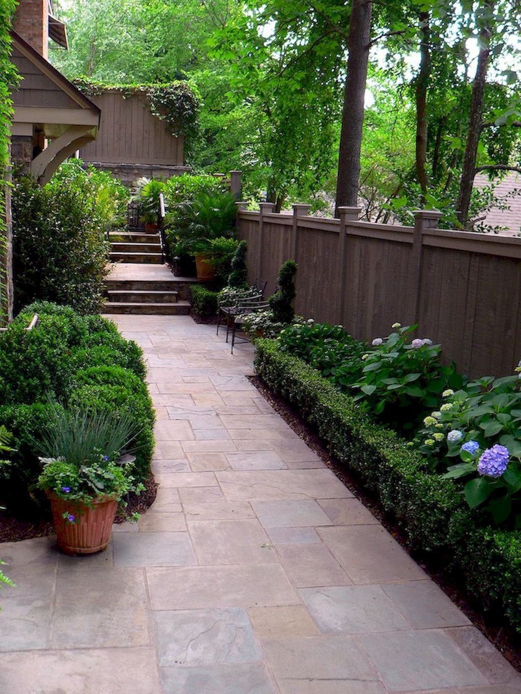 60 Beautiful Side Yard Garden Design Landscaping Ideas ... on Narrow Side Yard Landscaping id=41278