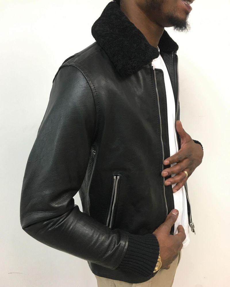 Diesel L Maverick Black Leather Jacket Male Medium Size Brand New With Tags Leather Jacket Black Leather Jacket Jackets [ 1000 x 800 Pixel ]