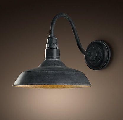 Garage Lighting Restoration Hardware Lampade Lampada A Muro