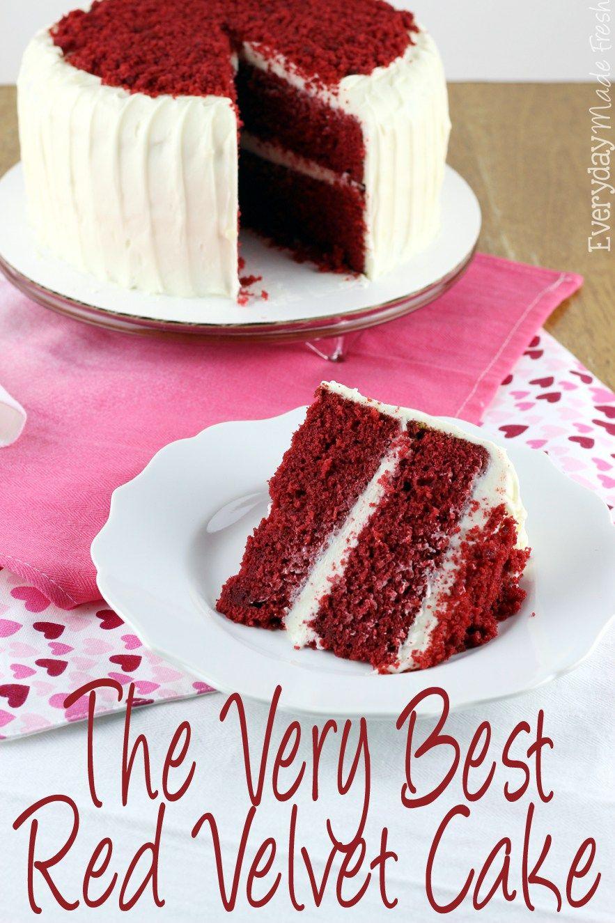 The Very Best Red Velvet Cake Recipe With Images Velvet Cake