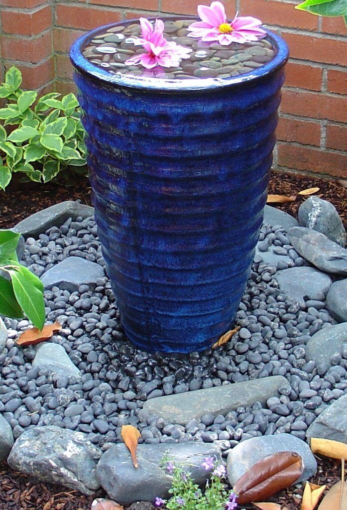 Diy Garden Fountains · Pottery Fountain