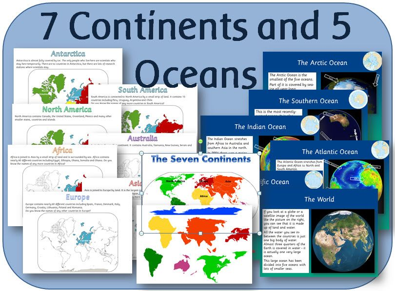 KS Geography Locational Knowledge The Seven Continents And - Seven continents and five oceans
