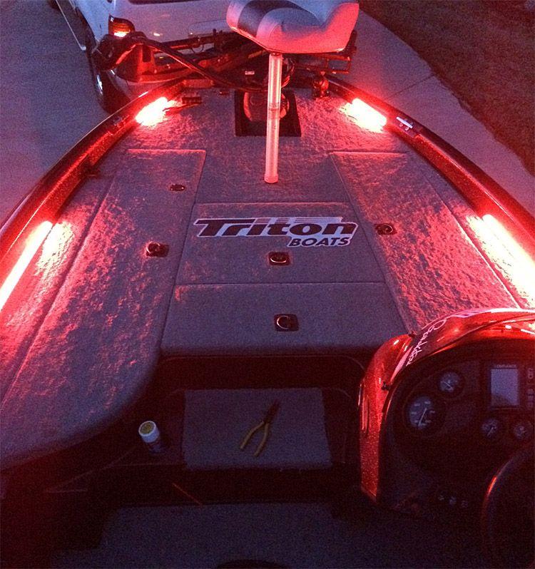 Blue water led customer showcase general bass boat led for Fishing boat lights