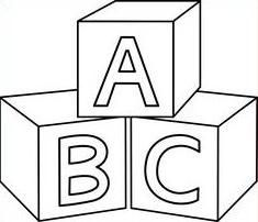 Baby Blocks Abc Blocks Abc Coloring Pages Coloring Pages