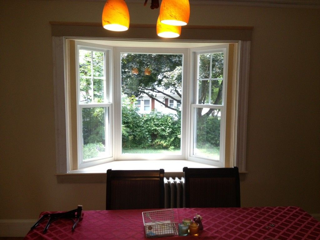 Interior window frames - Bay Window Pics With Simple White Wooden Window Frames Of Small Bay Window Treatments Pictures Popular Home Interior Decoration