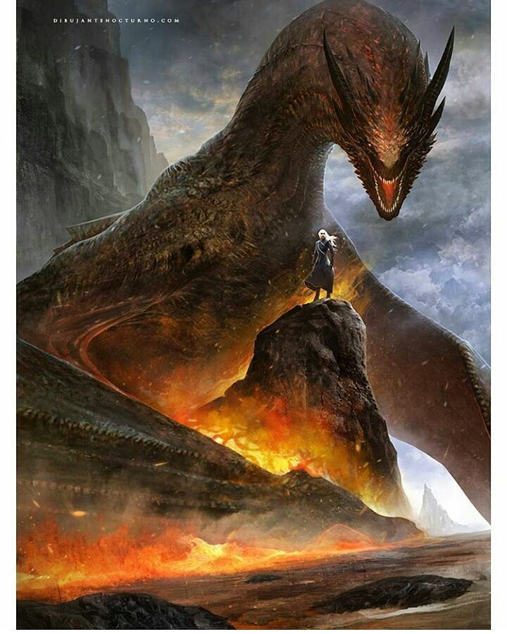 "4,427 Likes, 49 Comments - Game of Thrones (@art.of.ice.and.fire) on Instagram: ""On which side you?  Artwork - by @roggleart ° ° ° #daenerystargaryen #drogon #nigthsking #viserion…"""