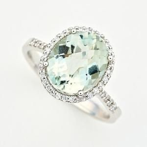 mint.quenalbertini: Mint Green Amethyst & Diamond Ring | by Cindykt