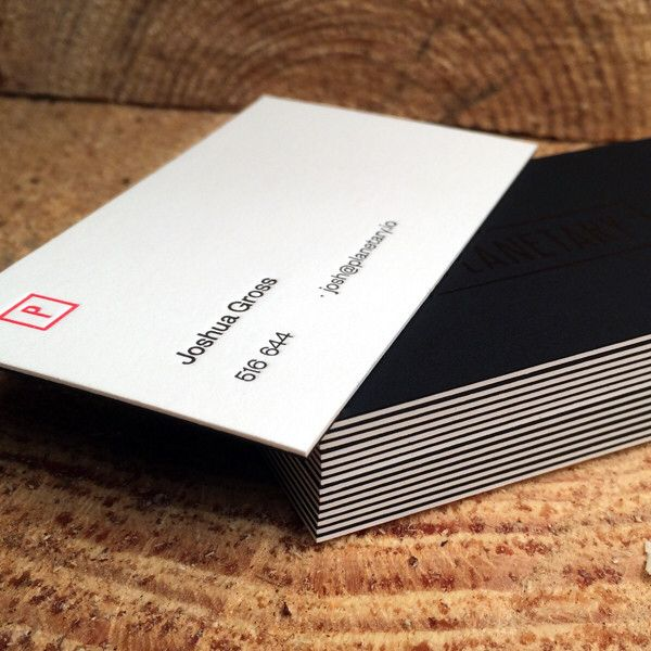 This High End Business Card Offers The Best Of Both Worlds We Glue 130 Epic Black Stock To Cool Business Cards Business Card Inspiration Thick Business Cards